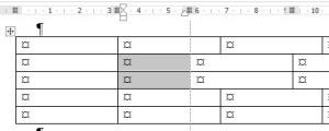 Выравнивание в таблице Word