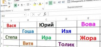 Создание и использование имен в MS Excel